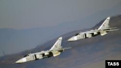 Ресейлік Су-24 ұшақтары.