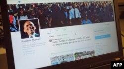 Obama-nın yeni Twitter hesabı.