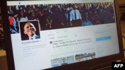 Faqja e Barack Obamës në rrjetin Twitter