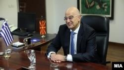 Архивска фотографија: Министерот за надворешни работи на Грција, Никос Дендиас во посета на Македонија