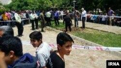 صحنه انفجار در سپاهان شهر اصفهان