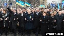 Liderii de stat ce au demonstrat ieri la Kiev alături de președintele Petro Poroșenko