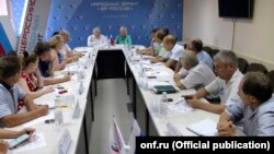 Заседание Общероссийского народного фронта, иллюстрационное фото