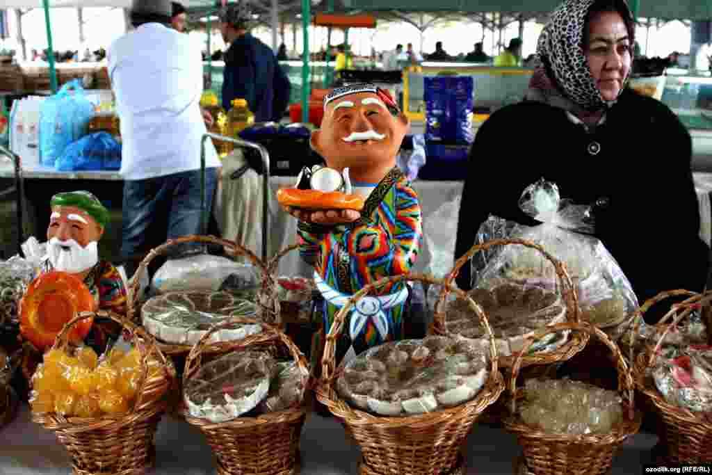 Sweets on sale in the Uzbek capital, Tashkent