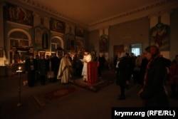 Пасхальное богослужение в храме святых равноапостольных князя Владимира и княгини Ольги УПЦ КП