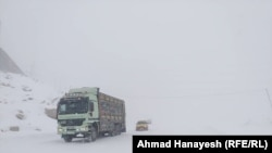 Heavy snowfall in Salang Pass north of the Afghan capital Kabul in early January.