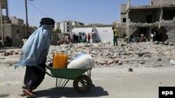 Եմեն - Ռմբակոծությունների հետևանքները մայրաքաղաք Սանայում, արխիվ