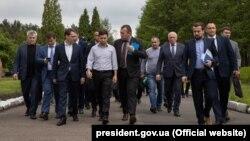 Президент Украины Владимир Зеленский на шахте «Лесная» в Сокальском районе Львовской области. 29 мая 2019 года