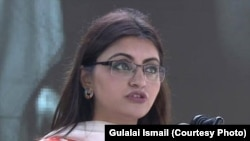 Pakistani rights activist Gulalai Ismail (file photo)