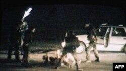 Дел од снимката која ги предизвика бунтовите во 1992 година