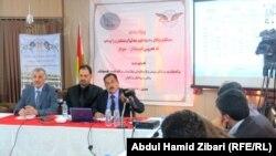 جانب من مناقشات ورشة العمل الخاصة بقانون هيئة الإنتخابات في كردستان