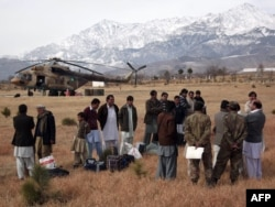 A helicopter ride was one of the fews ways out of Parachinar during the four-year seige.