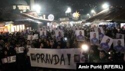 Protest na Baščaršiji