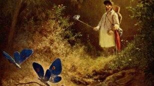 Carl Spitzweg. The butterfly hunter, 1840