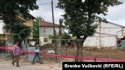 Mesto gde je bila kuća Đure Jakšića