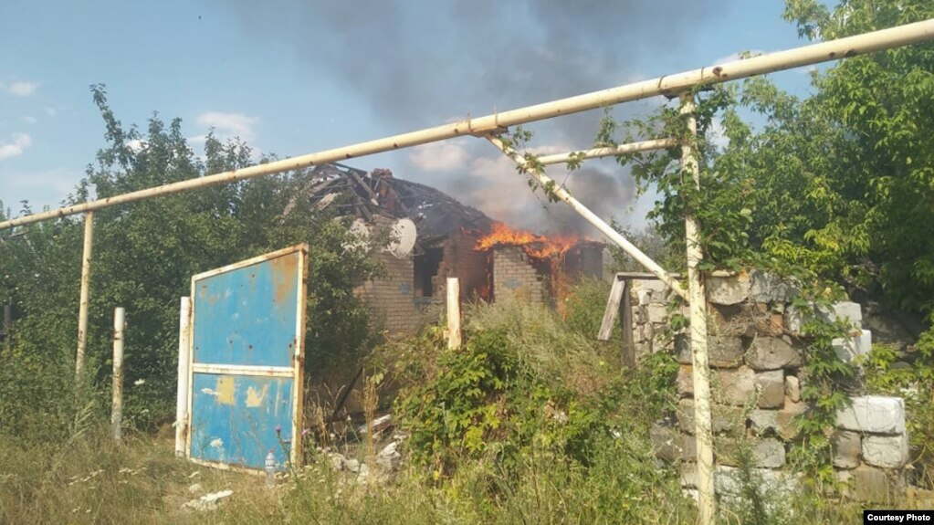 """At the request of Radio Svoboda, the headquarters of the Environmental Protection Agency said that they were """"understanding"""" the situation and could neither confirm nor deny the report of the fire."""