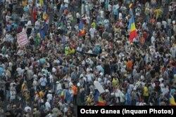 Під час демонстрації в Бухаресті, 10 серпня 2019 року