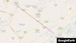 وادی بردی در پانزده کیلومتری شمال غرب دمشق قرار دارد.