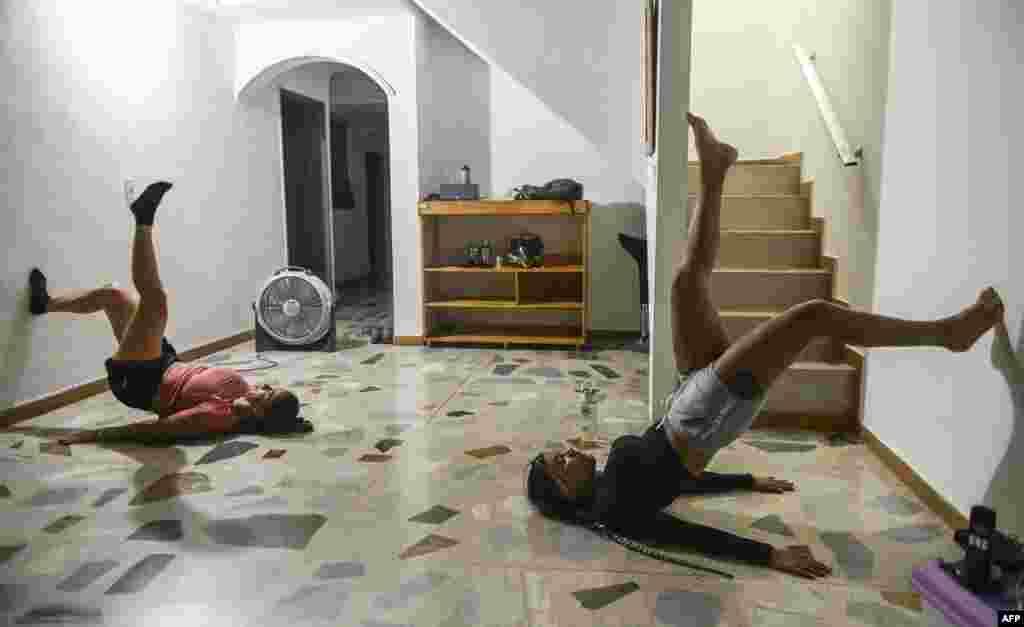 Вежби за физичка кондиција во Колумбија