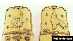 Официальная эмблема 35-го Чемпионата мира по самбо в Вильнюсе