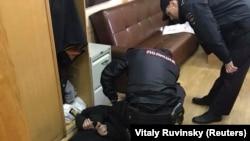 Апсење на напаѓачот во радиото Ехо Москви