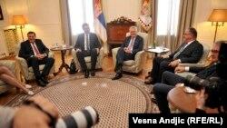 Na okupu: Lideri bosanskih Srba sa premijerom Aleksandrom Vucicem i predsednikom Tomislavom Nikolićem