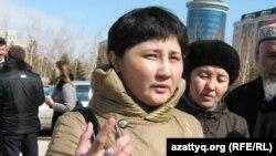 Гаухар Ибрагимова, супруга осужденного. Астана, 1 апреля 2011 года.