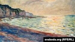 Клёд Манэ, «Пляж у Пурвіль. Захад сонца» (1882)