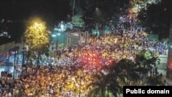 Վենեսուելա -- Ընդդիմության բողոքի ցույցը Կարակասում, 16–ը ապրիլի, 2013թ.