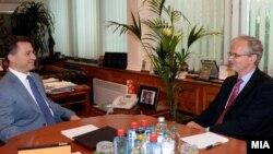 Средба на премиерот Никола Груевски со генералниот директор на Директоратот за проширување на Европската Комисија, Кристијан Даниелсон.