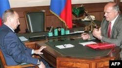 Лидеры «Единой России» и КПРФ на встрече в Кремле