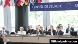 Pamje nga punimet e Këshillit të Evropës