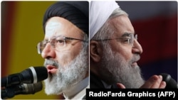 Ибрагим Раиси (слева) и Хасан Роухани (справа)