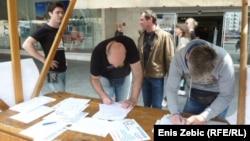 Potpisivanje za referendum, Zagreb, 5.lipnja 2014.