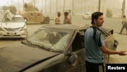 В центре Багдада - после взрыва 19 апреля 2012 г.