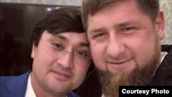 Старший зять президента Узбекистана Ойбек Турсунов (слева) и глава Чечни Рамзан Кадыров. Фото из страницы Рамзана Кадырова в Instagram'е.