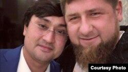 Старший зять президента Узбекистана Ойбек Турсунов с главой Чечни Рамзаном Кадыровым. Фото с Instagram'а.