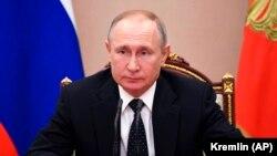 Орусиянын президенти Владимир Путин. 13-март, 2020-жыл.
