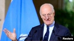 Стаффан де Мистура, специальный посланник ООН по Сирии. Женева, 12 января 2017 года
