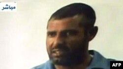 أبو عمر البغدادي كما ظهر على شاشة (العراقية)