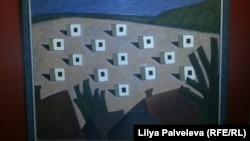 """На картине Мамута Чурлу """"Возвращение"""" домики-времянки переселенцев похожи на дзоты"""