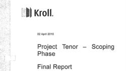 Raportul Kroll final va fi transmis procurorilor