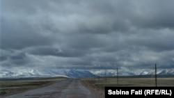 Vedere a masivului Pamir dinspre Kîrgîstan