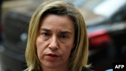 EU foreign policy chief Federica Mogherini (file photo)
