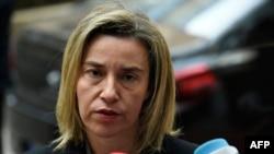 Верховный представитель ЕС по иностранным делам и политике безопасности Федерика Могерини (архив)