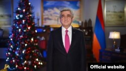 Armenia - President Serzh Sarkisian delivers a New Year address to the nation, Yerevan, 31Dec2016