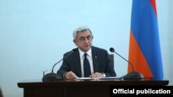 Armenia - President Serzh Sarkisian addresses ambassadors of the OSCE's countries, Yerevan,04Apr,2016