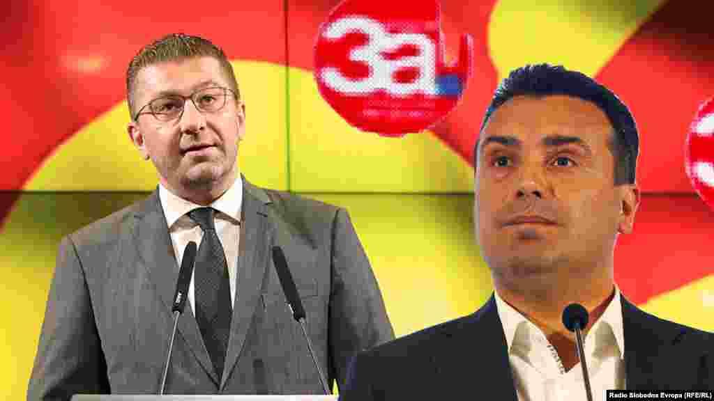 Lider VMRO-DPMNE Hristijan Mickoski i lider SDSM Zora Zaev.