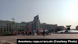 Ілюстрацыйнае фота. Праўладны мітынг за Лукашэнку на плошчы Незалежнасьці 12 верасьня