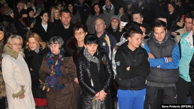 Protest protiv ubistva braće Gojačanin